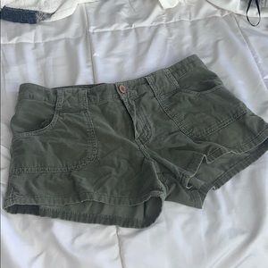 Corduroy olive green shorts